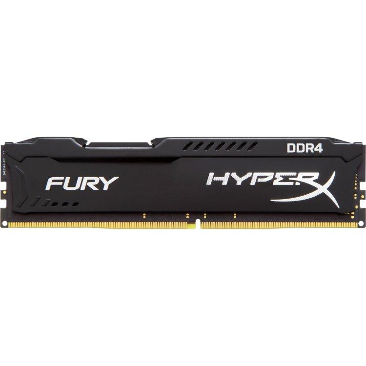 Kingston HyperX Fury HX426C16FB2/8 DDR3, 8Гб, PC3-21300, 2666, Черный
