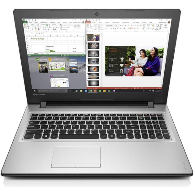 "Lenovo IdeaPad 300-15IBR 80M300N1RK 15.6"", Intel Pentium, 1600МГц, 4Гб RAM, GeForce 920M 1Gb, DVD-RW, 500Гб, Серебристый, Wi-Fi, Windows 10, Bluetooth"