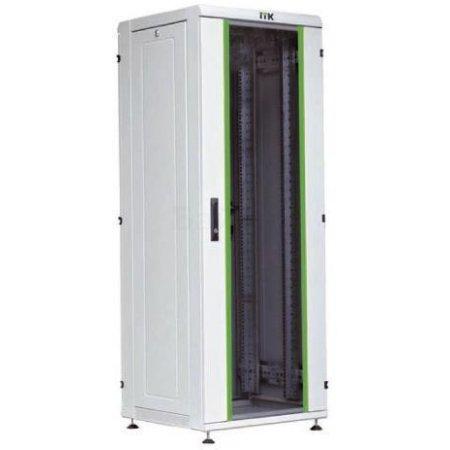"""IEK ITK Шкаф сетевой 19"""" LINEA N 42U 600х800 мм стеклянная передняя дверь серый"""