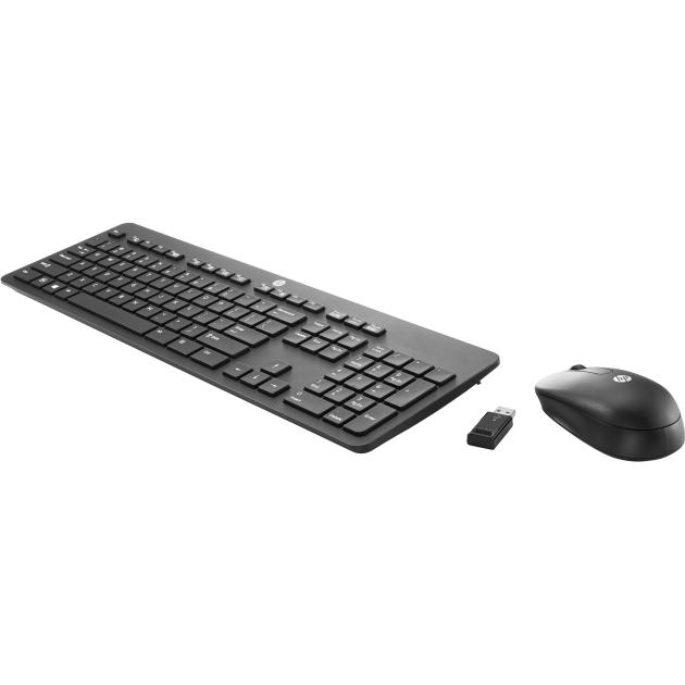 HP Wireless Business Slim + Mouse USB, Черный