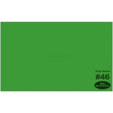 "Фон бумажный Savage 46-1253 WIDETONE TECH GREEN цвет ""Хромакей Зеленый"" RGB 54-156-71, 1,35 х 11 метров"