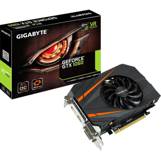 Gigabyte GeForce GTX 1060 OC 3072Мб, GDDR5,1556MHz, GV-N1060IXOC-3GD GTX 1060 OC 3G - 3072Мб, GDDR5,1556MHz, GV-N1060IXOC-3GD