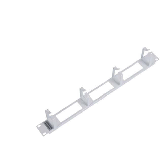 """ЦМО Горизонтальный кабельный органайзер 19"""" 1U, 4 кольца серый, [ ГКО-4.62 ]"""