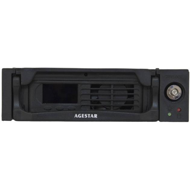 "Сменный бокс для HDD AgeStar TMR-SATA(K)-2F SATA пластик черный LCD 3.5"""