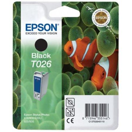 Epson T026 Картридж струйный, Черный, Стандартная, нет