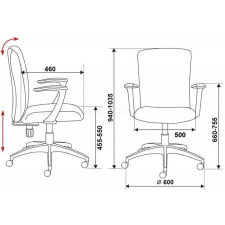 Кресло Бюрократ CH-470AXSN/Red красный 26-22