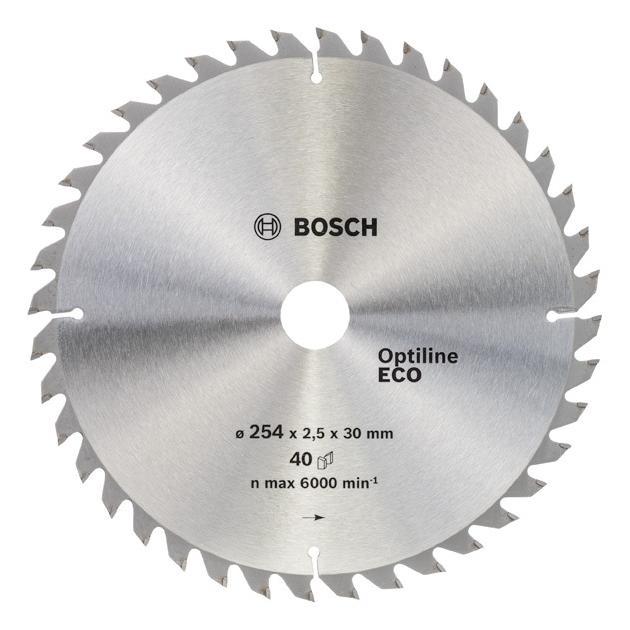 Пильный диск по дереву Bosch 2608641795 d=254мм d(посад.)=30мм (циркулярные пилы) от Байон