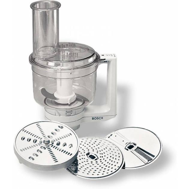 Диск-терка/шинковка Bosch MUZ4MM3 для кухонных комбайнов серебристыйАксессуары для кухонных комбайнов<br>Назначение для кухонных комбайнов<br>Совместимость для кухонных комбайнов Bosch MUM4406/4855/4856EU<br>Особенности В комплект входят: двусторонний диск-терка (крупная/мелкая), двусторонний диск-шиновка (крупная/мелкая), терка для сыра твердых сортов, шоколада, нож-крыльчатка. Возможность колки льда и измельчения замороженных овощей и фруктов.<br>Материал нержавеющая сталь/пластик<br>Цвет серебристый<br>Описание Мультимиксер для кухонных комбайнов Bosch MUM4xx.<br>Тип Диск-терка/шинковка...<br>