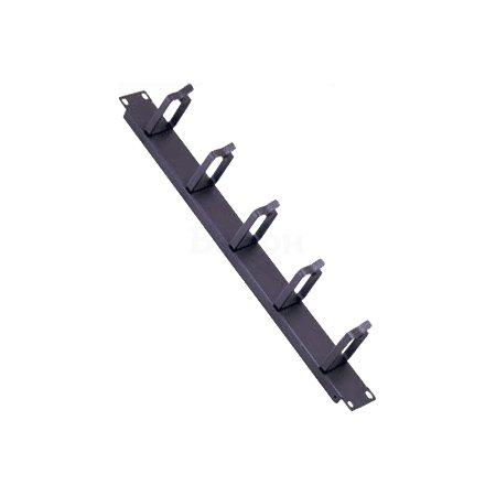 """1U 19"""" горизонт. кабель-органайзер универсальный с крышкой, черный"""