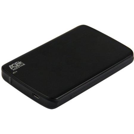 "Внешний корпус для HDD/SSD AgeStar 31UB2A12C SATA пластик/алюминий черный 2.5"""