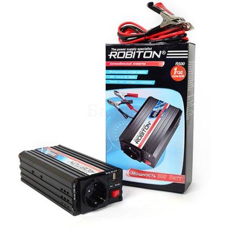 Robiton R500 1000Вт, крокодилы (к аккумулятору)
