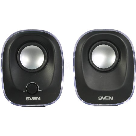 Sven 330 Черный, 2.0, mini jack, Пластик Черный