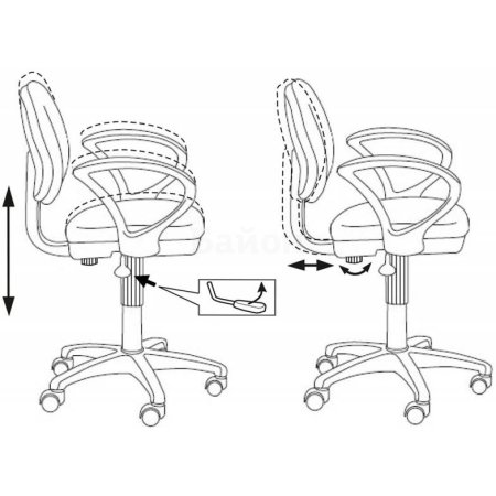Кресло Бюрократ CH-G318AXN/15-21 черный 15-21 пластик серый