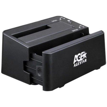 Док-станция для HDD AgeStar 3UBT3-6G SATA III пластик черный 1