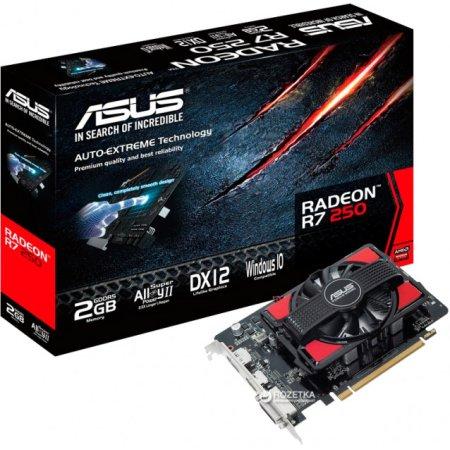 Asus AMD Radeon R7 250 2048Мб, GDDR5, 725MHz /R7250-2GD5 / R7 250 - 2048Мб, DDR3, 725MHz /R7250-2GD5 /