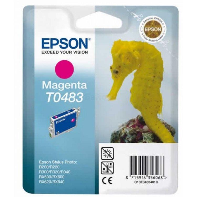 Epson T0483, Картридж струйный, Стандартная, нет