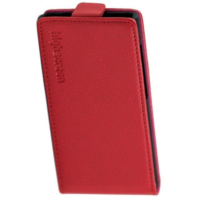 Highscreen Zera S rev.S кожзам, Красный