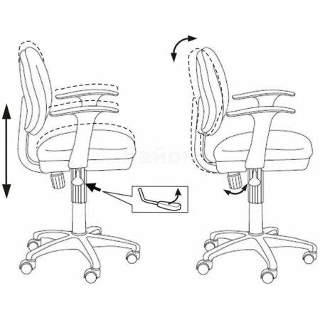 Кресло Бюрократ CH-W356AXSN/15-107 голубой 15-107 пластик белый