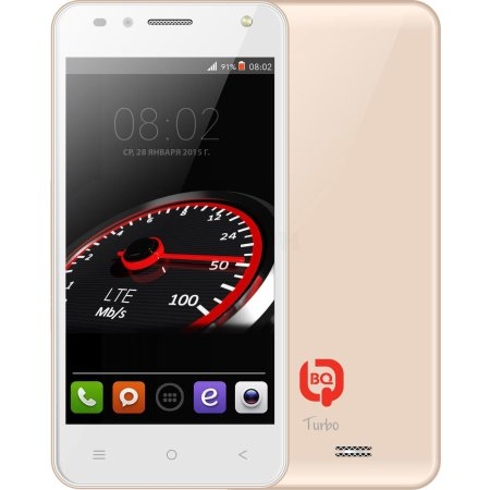 BQ 4555 Turbo LTE Champagne 4Гб, Не указан, Dual SIM, 4G (LTE), 3G