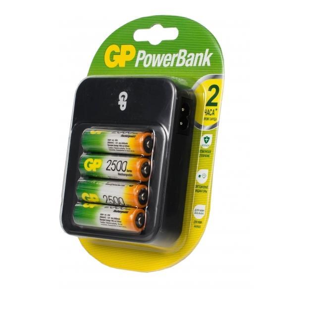 Аккумулятор + зарядное устройство GP PowerBank PB550GS250 AA NiMH 2450mAh (4шт.уп.)