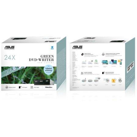 Asus DRW-24D5MT Черный, DVD RW DL