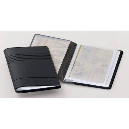 Футляр для кредиток Durable 2394-58 54х85мм (10 карточек) ПВХ темно-серый