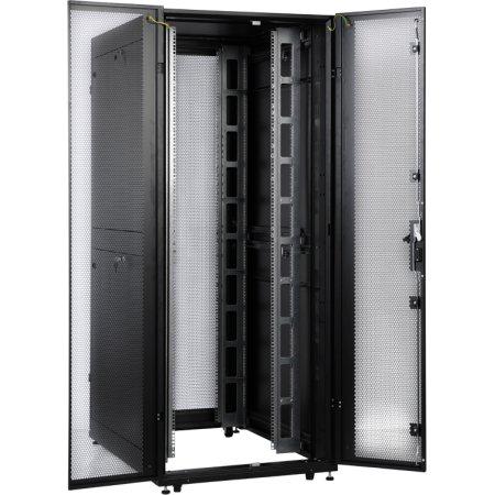 ЦМО Шкаф серверный ПРОФ напольный 42U (800x1000) дверь перфор. 2 шт., черный, в сборе