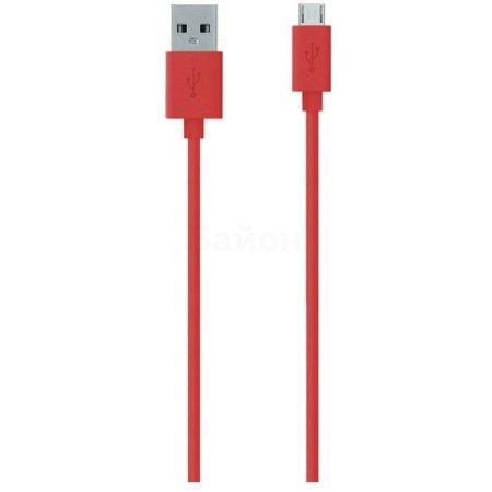 Qumo USB – micro USB, 1м 1м, Микро-USB, USB, Красный