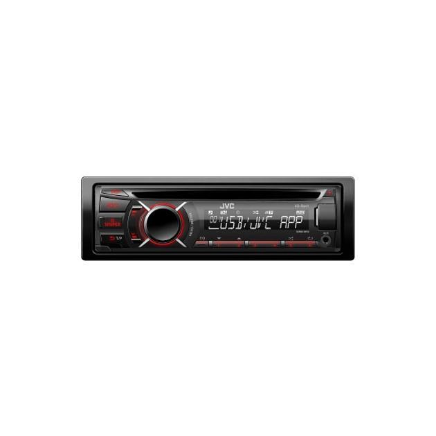 JVC KD-R487 1 DIN, красная подсветка, белая подсветка