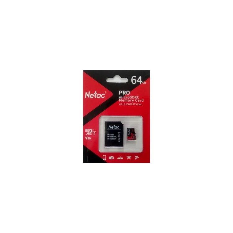 Netac MicroSDHC Memory Card P500 Extreme Pro 64GB