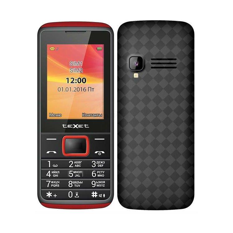TeXet TM-214 Черный, 0.032Гб, 2 SIM