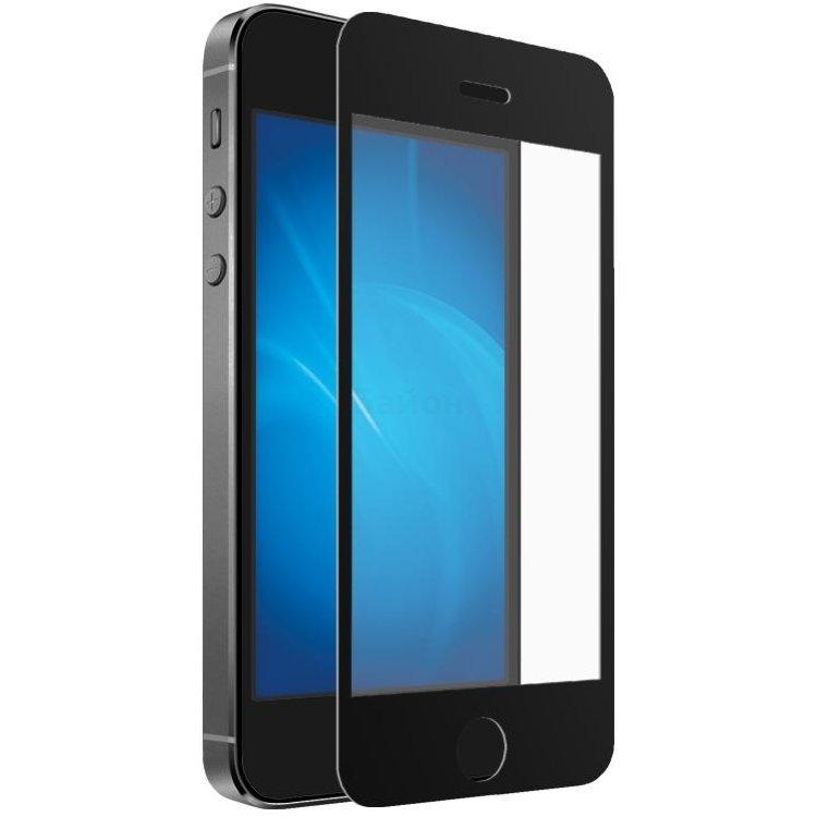 Купить Закаленное стекло DF для iPhone 5/5S с цветной рамкой, black в интернет магазине бытовой техники и электроники
