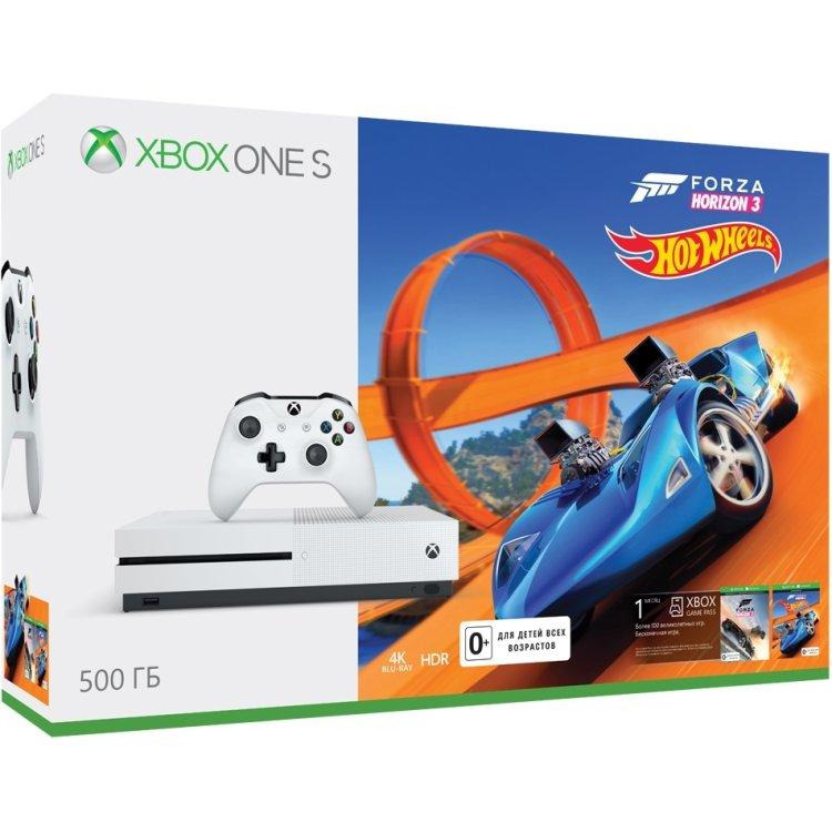 Xbox One S 500 Гб + Forza Horizon 3 + DLC Hot Wheels