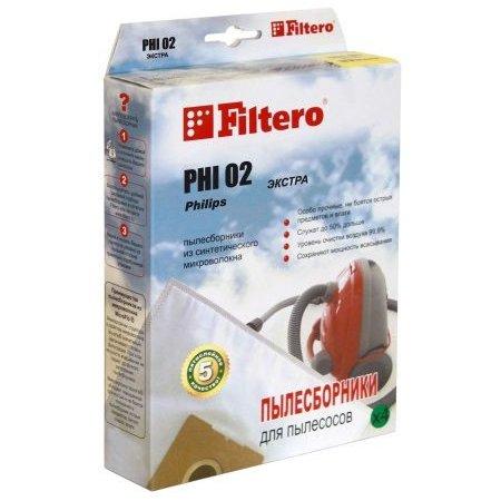 Пылесборники Filtero PHI 02 Эконом (3пылесбор.)