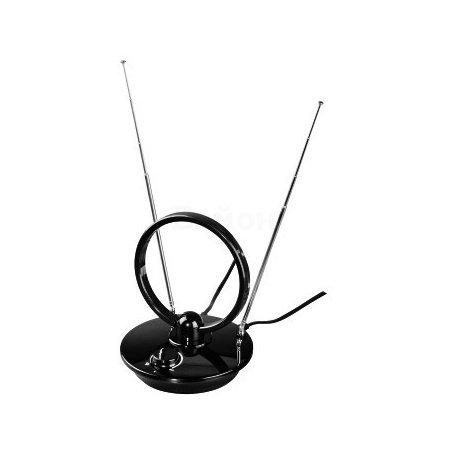 Антенна Hama H-121650 комнатная активная TV/FM/DVB-T 36 дБ 30 - 950 МГц черный