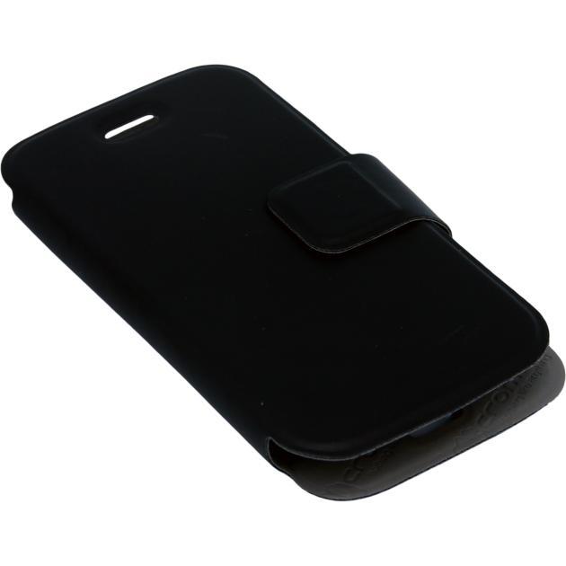Micromax D200 кожзам, Черный
