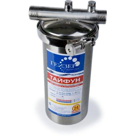Водоочиститель Гейзер Тайфун 10SL 1/2 серебристый 3л.