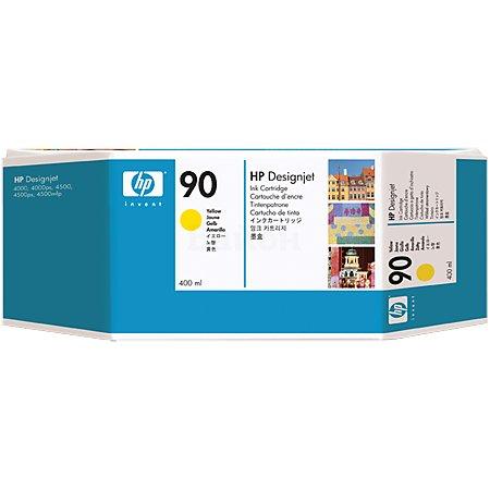 HP 90 Желтый, Струйный картридж, Стандартная, нет