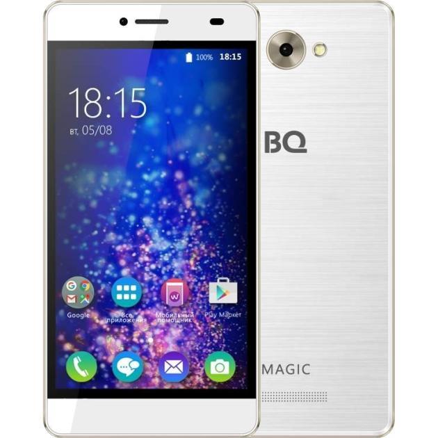 BQ-Mobile BQ BQS-5070 Magic Белый/золотой аксессуар чехол bq bqs 5070 magic zibelino classico black zcl bq bqs 5070 blk