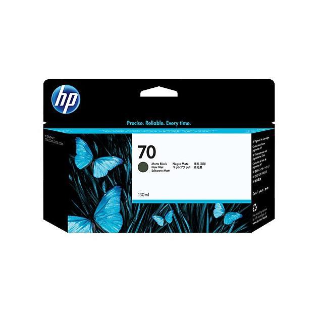 HP 70 Матово-черный, Картридж струйный, Стандартная, нет