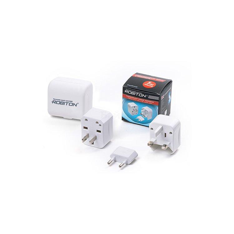 Купить Переходник для розеток ROBITON TravelEnergy PRO с USB-выходом в интернет магазине бытовой техники и электроники