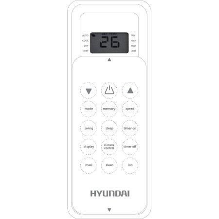 Hyundai H-AR1-12H-UI012 Белый, Настенный, 35м²
