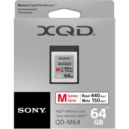 Sony QDM64 XQD 64Gb M series XQD, 64Гб, без класса