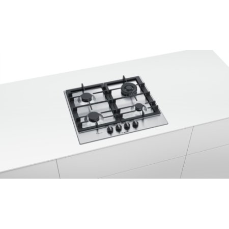 Bosch PCH6A5B90R Серебристый, Газовая, Нерж. сталь