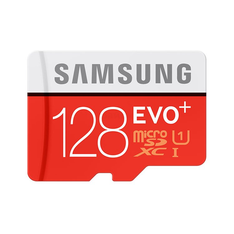Samsung microSDXC EVO Plus 80MB/s + SD adapter 128Гб