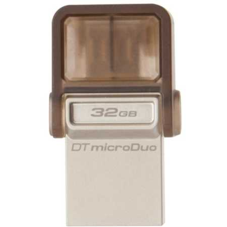 Kingston DataTraveler microDuo 3.0 32Гб, Коричневый, USB 2.0/microUSB