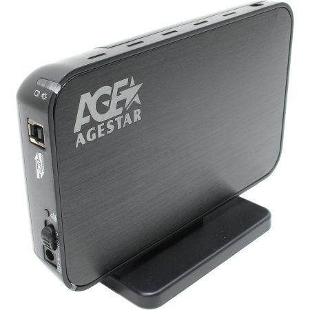 "Корпус AgeStar 3UB3A8-6G Black, usb3.0 to 3,5""hdd SATA алюминий"