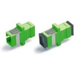 Проходной адаптер SC-SC, для одномодового и многомодового кабеля (SM/MM), с полировкой APC, одинарного исполнения (Simplex)