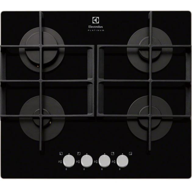 Electrolux EGT96342YK Черный, Газовая, Закалённое стекло