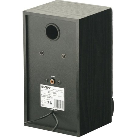 SVEN SPS-607 Черный, 2.0, mini jack, MDF